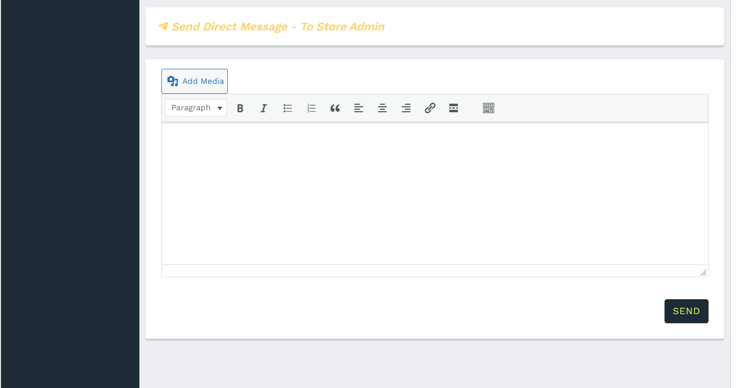 Send direct messages to store administrator